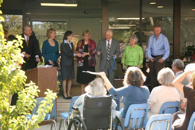 ribbon cutting ceremony for the Pam Stephens Center