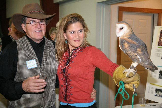 Bruce and Dana with female Barn Owl