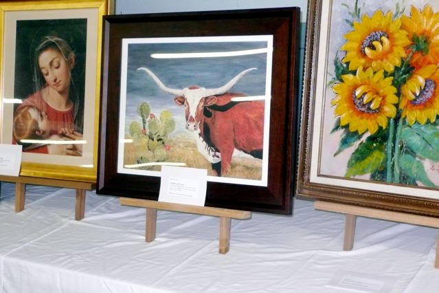Longhorn & Cactus Giclee donated by Dana Parish