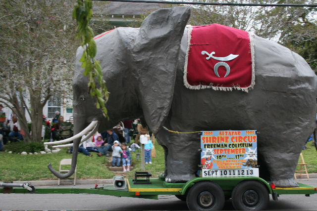 Shrine Circus elephant