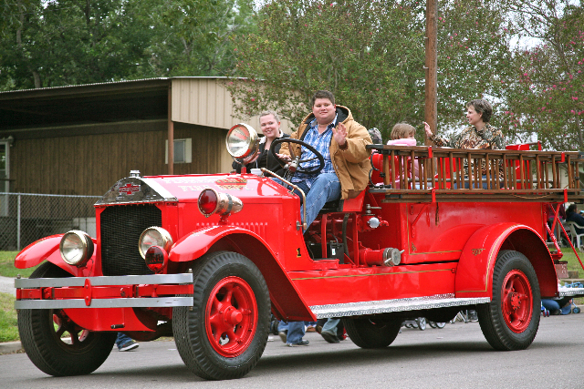 old red firetruck